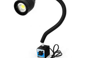 Drehmaschine Lampe YUNRUX CNC 220V Maschinenlampe Magnetische LED Arbeitsleuchte LED 310x205 - Drehmaschine Lampe YUNRUX CNC 220V Maschinenlampe Magnetische LED Arbeitsleuchte LED Werkzeug Maschinenleuchte Mit Flexibel Licht Arm einstellbar Magnetic Base